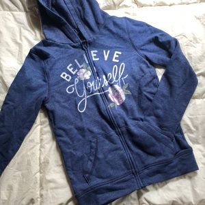 Blue girls So believe in yourself hoodie